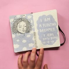 ☁️☁️ In my art journal flip through on YouTube I show you which kind of notebook I use since so many of you are always asking #artbyfiphie Copyright Sophie Neuendorff, 2017