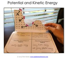 Grandell's Nifty Notebooks : Monday, Dec 12th- pg 98 Potential and Kinetic Ener...