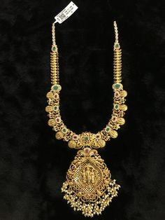 Gold Necklace Simple, Gold Jewelry Simple, 18k Gold Jewelry, Bridal Jewelry, Gold Temple Jewellery, India Jewelry, Gold Jewellery Design, Gold Earrings Designs, Necklace Designs