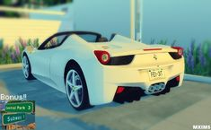 Ferrari 458 Spider and NYC Street Signs at Maximss via Sims 4 Updates