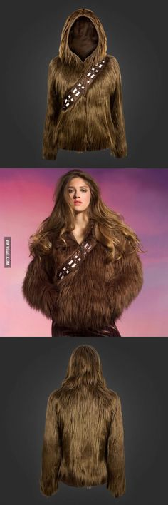 Chewbacca Hoodie Lets You Become A Wookiee From Star Wars. I Just Need This!