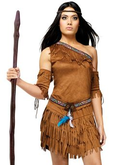 Pocahontas Costume Wig Adult Women Braided Native American Indian Girl Halloween