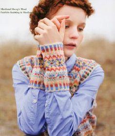 Kazekobo's Fair Isle knitting, Keito Dama magazine