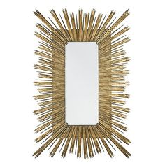 """The XXL Gold Skvode Mirror is from Aidan Gray, a line that represents a love for interiors, design and authentic products that exude """"European Grandeur."""" The founding partners' desire for products made by hand and with authentic materials such as solid wood, rustic metals, antique mirror, old painted finishes and silk appointments drives product development. Aidan Gray has become known for exceptional quality and detail oriented products."""