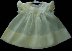 Beautiful Vintage Yellow Batiste Baby Dress