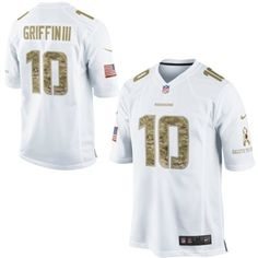 0fbf9a6f1 Nike Robert Griffin III Washington Redskins Salute to Service Game Jersey -  White  SalutetoService