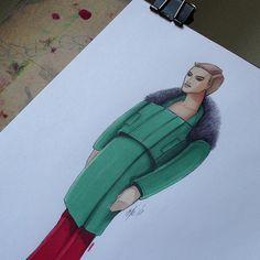 Fashion illustration by Dionisis Chalikias