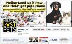 HeLP has 8,939 likes! please share and like some more so we can get more pets back home! www.facebook.com/helpinglostpets
