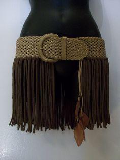 Hip wrap hip belt pixie skirt hooping skirt fringe belt by LamaLuz, $48.00