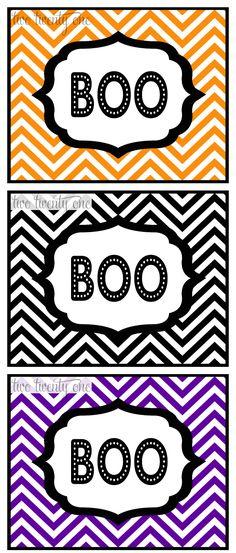 two twenty one: free Halloween printables #halloween