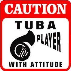 Amazon.com - CAUTION: TUBA PLAYER WITH ATTITUDE music sign - Yard Signs