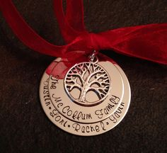 Personalized Christmas Ornament family mom by WhirlyBirdDesigns, $18.00