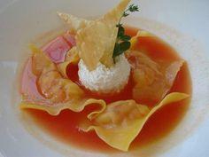 Raw Sicilian shrimp ravioli essence of tomato salad and fresh caciotta cheese  Ravioli di gamberi di Sicilia crudi essenza di insalata di pomodori e caciotta fresca  #13atavola #trediciatavola #quandovolete #nofilter #food #foodie #foodgam #foodporn #foodshare #gastroart #guidemichelin #insta #instagood #instalike #instanice #instadaily #chef #chefsofinstagram #yummy #yeschef #swag #art #tasting #theartofplating #delicious #foodblogger #amazing #photooftheday by trediciatavola