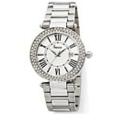 Freelook Freelook Cortina Silvertone Ladies Double-Crystal Bezel Bracelet Watch with Roman Numeral Dial - product - Product Review
