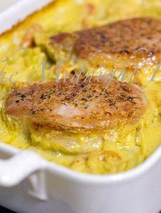 Pork Chops on Rice