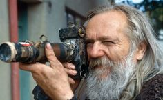 Miroslav Tichy and one of his cameras