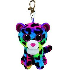 "Ty Beanie Boos Dotty the Leopard Clip 3"" Keychain Plush Stuffed Animal Collectible Doll Toy"