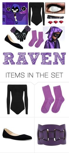 """Raven"" by funtimefoxy1 ❤ liked on Polyvore featuring art"