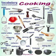 Kitchen utensils | Kitchen Vocabulary | Pinterest | Head ...