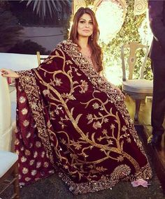 Beautiful red and gold shawl