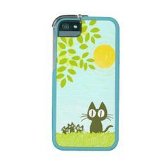 Sun and Leaves and Black Cat iPhone 5 Cover ! :D #kitten #cat #iPhone5 #Graft #Cover