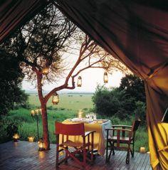 Bateleur Camp at the edge of the Maasai Mara in Kenya - an old colonial style luxury safari camp