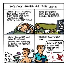 Ted Rall: Holiday Shopping for Guys [toon]