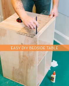 How to Make a Modern Bedside Table from Scratch! » Curbly | DIY Design Community