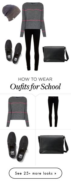 """""""School #2"""" by laurenzygarewicz on Polyvore featuring Keds, AG Adriano Goldschmied, 360 Sweater, Coal, Gucci, women's clothing, women's fashion, women, female and woman"""