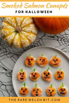 Halloween canapes don't get much better than these smoked salmon
