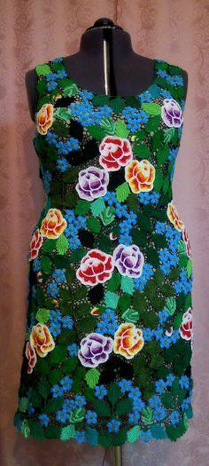Ирландское кружево.Розы с элементами вышивки.