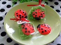 Set of 10 Lady Bug Ladybug Soap Favors for Tea Party Birthday Custom Party Favors Includes Customized Tags