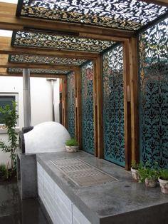 Diy Pergola, Pergola Metal, Building A Pergola, Small Pergola, Pergola Attached To House, Pergola With Roof, Cheap Pergola, Wooden Pergola, Outdoor Pergola
