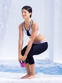 kettlebell/yoga workout