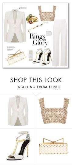 """""""In white!!!"""" by bv-b ❤ liked on Polyvore featuring Alexander McQueen, Oscar de la Renta, Tom Ford, Sara Battaglia, Tiffany & Co., Anja and Roland Mouret"""