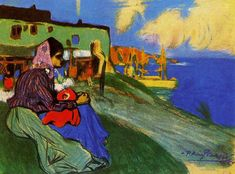 Gypsy in front of Musca, 1900, Pablo Picasso Size: 44.5x59 cm Medium: pastel on paper