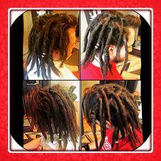 Before & After dreadlock maintenance on 3month old dreadies.  #caucasiandreads #caucasiandreadlocks #hairllucinations #georgiadreadheads #georgiadrealocks #dreadsinsuwanee #dreadlocksalon #dreadlockmaintenance