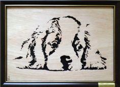 King Charles Spaniel 01 (End Framed) - Animals - User Gallery - Scroll Saw Village