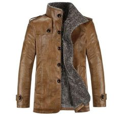 Cheap jacket navy, Buy Quality jacket velour directly from China jacket jersey Suppliers: Hot winter men jacket coat outdoor casual sports chaqueta hombre hunting clothes jaqueta masculina veste homm Pu Jacket, Men's Leather Jacket, Leather Men, Jacket Men, Vintage Leather, Leather Coats, Sheep Leather, Biker Leather, Men's Vintage