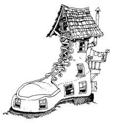 Huse Tegninger til Farvelægning. Printbare Farvelægning for børn. Tegninger til udskriv og farve nº 14
