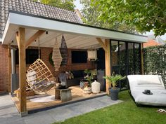 Backyard Gazebo, Backyard Patio Designs, Pergola Patio, Backyard Landscaping, Outdoor Garden Rooms, Outdoor Living, Outdoor Decor, Garden Veranda Ideas, Garden Room Extensions