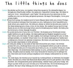 The little things he does...these are great <3 I love these!!!!! I really love Harry's <3