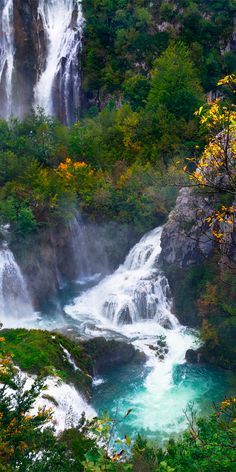 Plitvice Lakes National Park comprises of a series of 16 lakes, linked by a stunning set of rivers and waterfalls #Croatia
