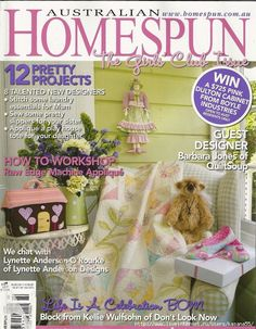 Australian Homespun Magazine -- All templates and patterns are at the end of Part 2 -- Part 2 of 3