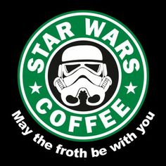 Starwars coffee - may the froth be with you