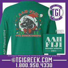 TGI Greek - Alpha Delta Pi - Phi Gamma Delta - Homecoming - Comfort Colors - Greek T-shirts #tgigreek #alphadeltapi #phigammadelta