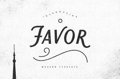 Favor Typeface by hampura on @creativemarket