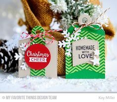 Gift Tag Greetings, Pierced Circle STAX Die-namics, Let It Snowflake Die-namics, Tag Builder Blueprints 4 Die-namics - Kay Miller  #mftstamps