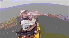 Kayak Fishing Saltwater Galveston TX. Pamela Girlfish on a Hobie Pro Ang...