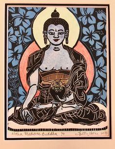 Buddhist Art – Lion's Roar Tibet, Reiki, Thangka Painting, Buddha Art, Paper Artwork, Hindu Art, Woodblock Print, Watercolor And Ink, Deities